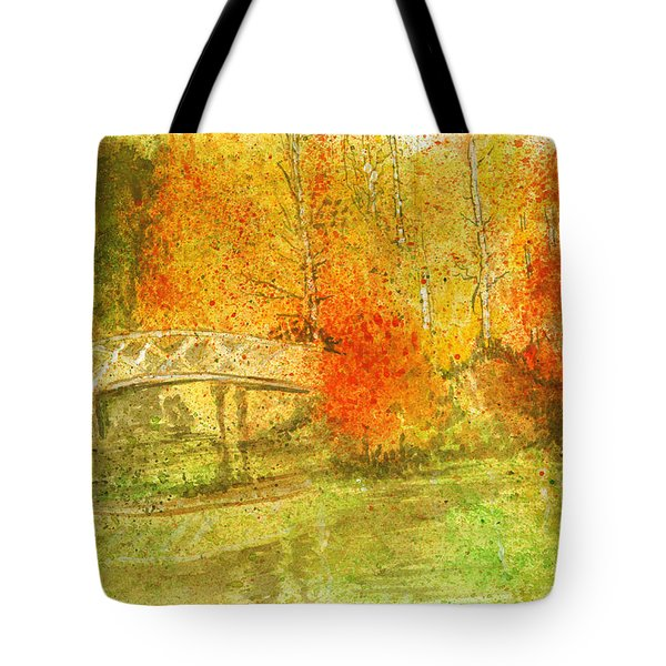 Autumn Landscape Painting  Tote Bag by Remy Francis