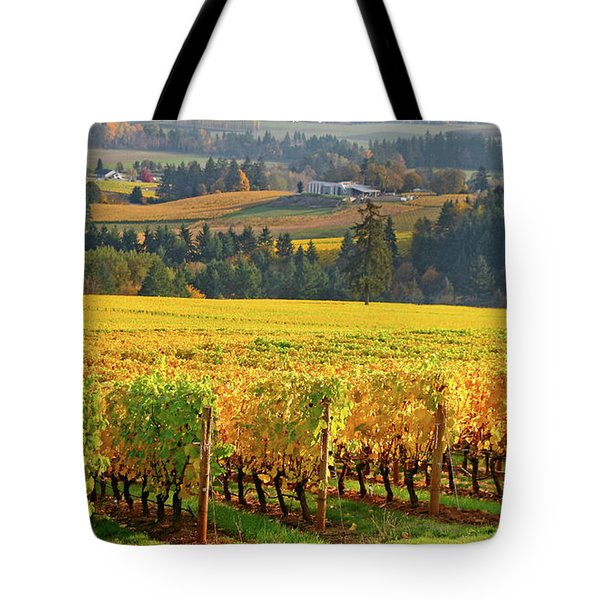 Autumn In Oregon Wine Country Tote Bag