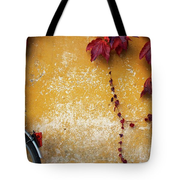 Autumn In Red Tote Bag by Yuri Santin
