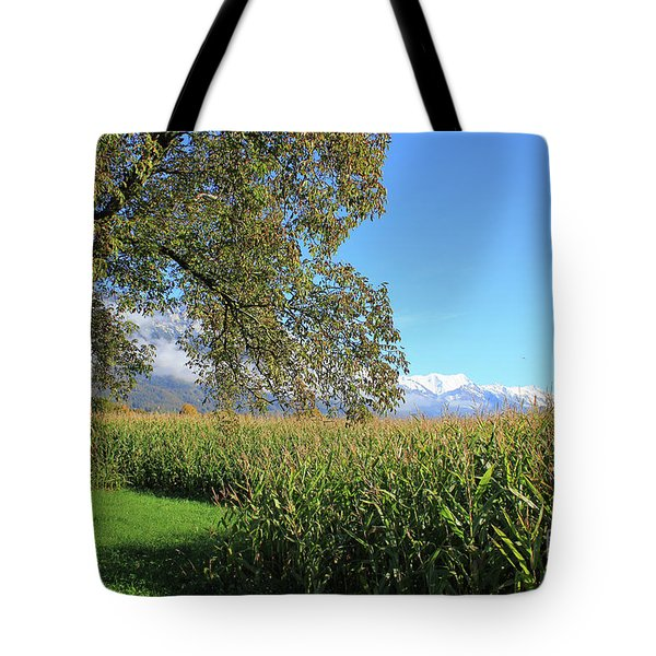 Autumn In Swiss Mountain Landscape Tote Bag