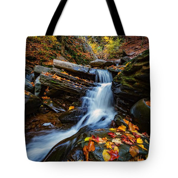 Autumn In The Catskills Tote Bag by Rick Berk