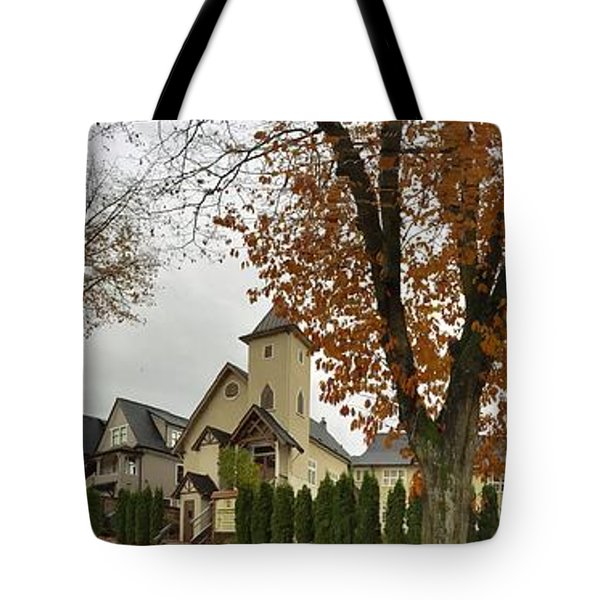 Autumn In The City 11 Tote Bag by Victor K