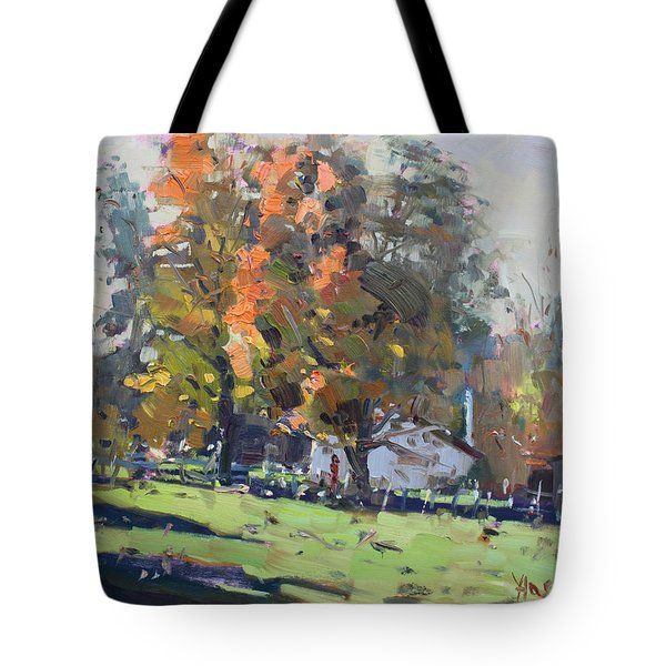 Autumn In The Farm Tote Bag