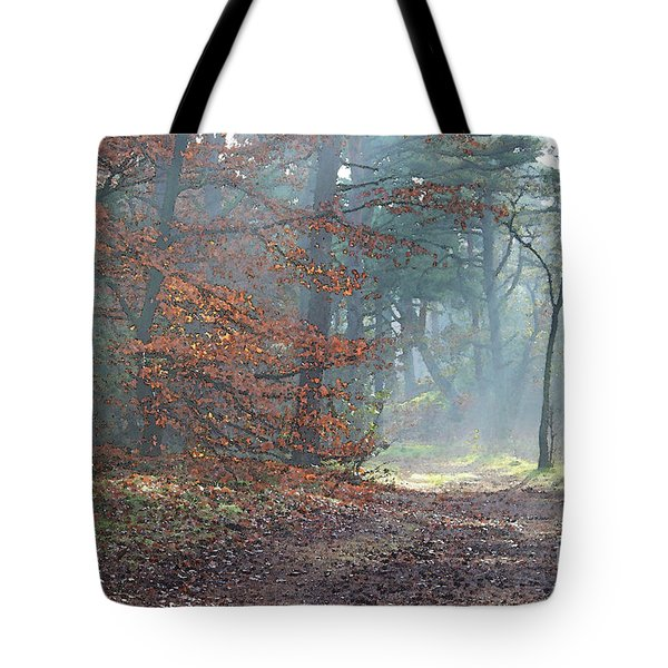 Autumn In The Forest, Painting Like Photograph Tote Bag