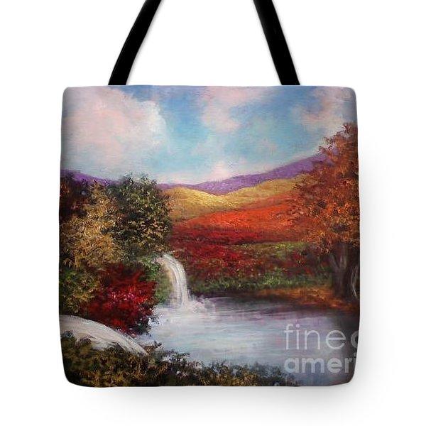 Autumn In The Garden Of Eden Tote Bag by Randy Burns