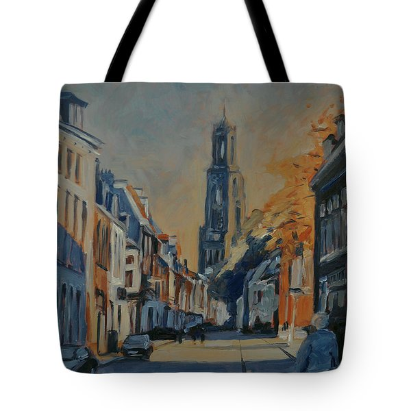 Autumn In The Lange Nieuwstraat Utrecht Tote Bag