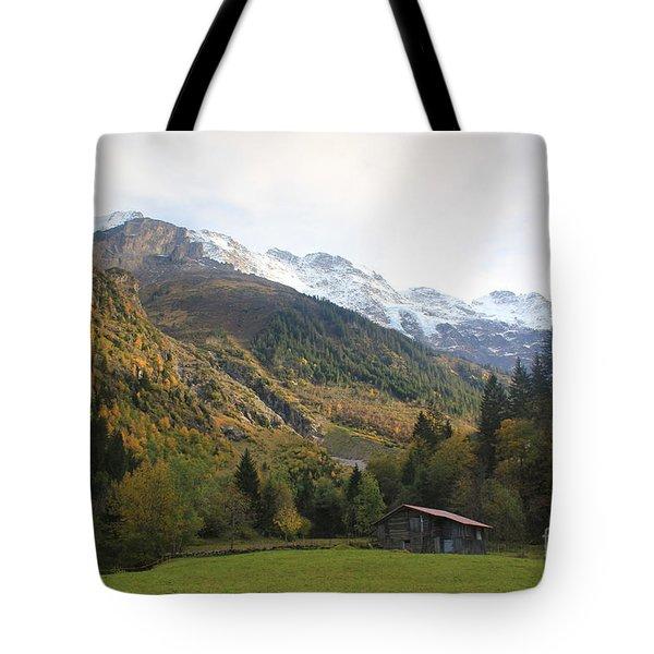 Autumn In The Lauterbrunnen Valley, Switzerland Tote Bag