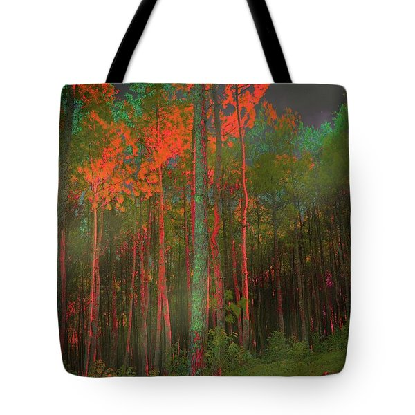 Autumn In The Magic Forest Tote Bag