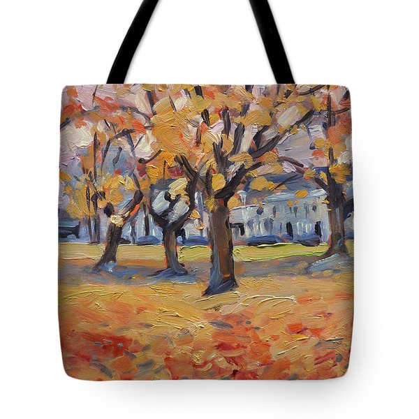 Autumn In The Villa Park Maastricht Tote Bag