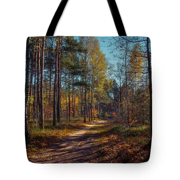 Tote Bag featuring the photograph Autumn In The Woods by Dmytro Korol