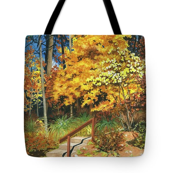 Tote Bag featuring the painting Autumn Invitation by Barbara Jewell