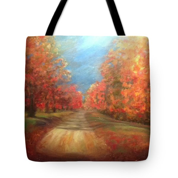 Tote Bag featuring the painting Autumn Dream by J Reynolds Dail