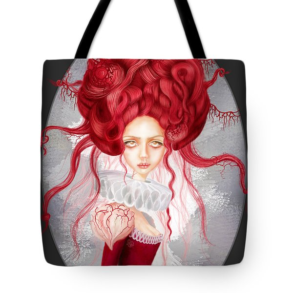 Tote Bag featuring the drawing Autumn by Julia Art