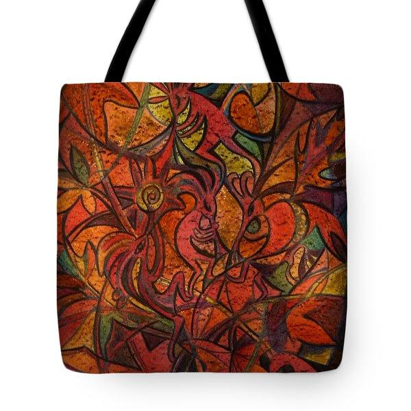 Autumn Kokopelli Tote Bag