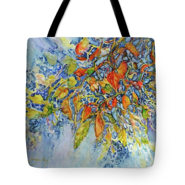 Tote Bag featuring the painting Autumn Lace by Joanne Smoley