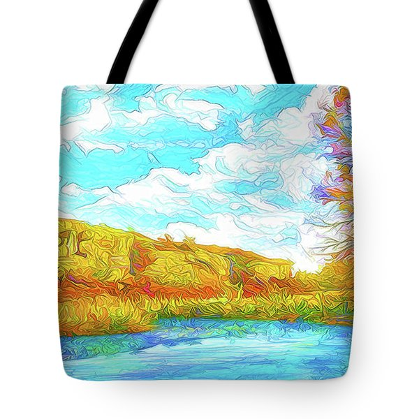 Autumn Lake Reflections - Park In Boulder County Colorado Tote Bag by Joel Bruce Wallach