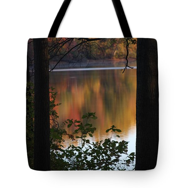 Tote Bag featuring the photograph Autumn Lake by Vadim Levin