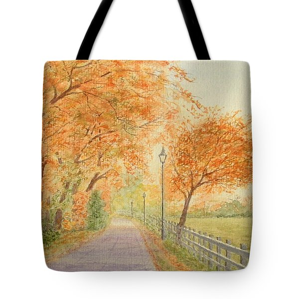 Autumn Lane - Royden Park, Wirral Tote Bag by Peter Farrow