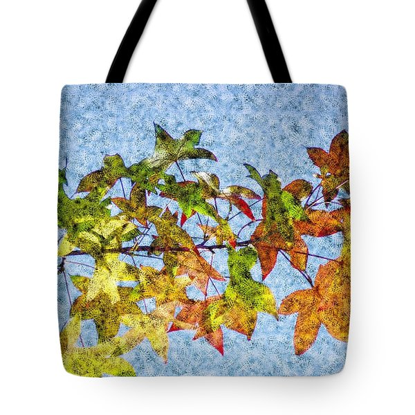 Tote Bag featuring the photograph Autumn Leaves 2 by Jean Bernard Roussilhe
