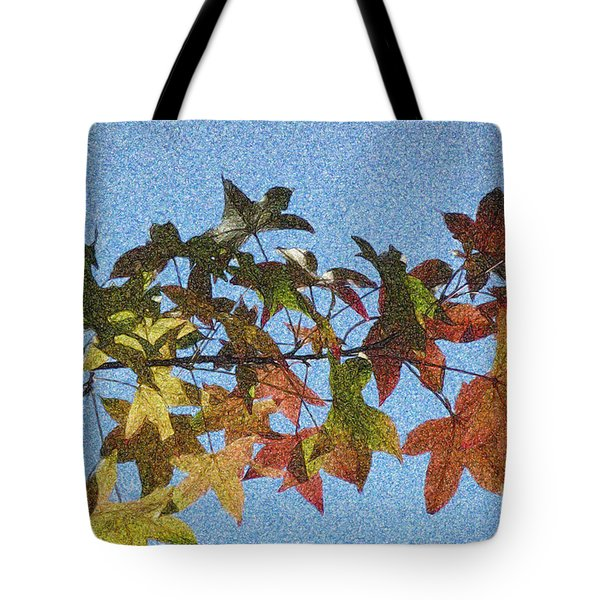 Tote Bag featuring the photograph Autumn Leaves 3 by Jean Bernard Roussilhe