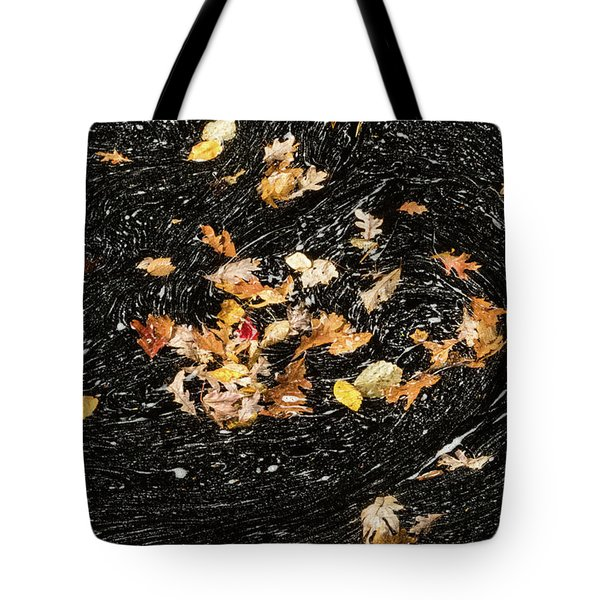 Autumn Leaves Abstract Tote Bag