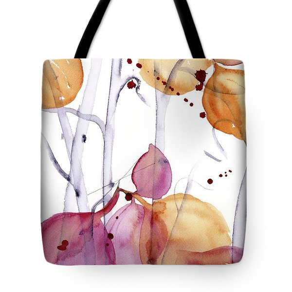 Tote Bag featuring the painting Autumn Leaves by Dawn Derman