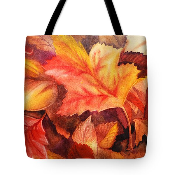 Autumn Leaves Tote Bag by Irina Sztukowski