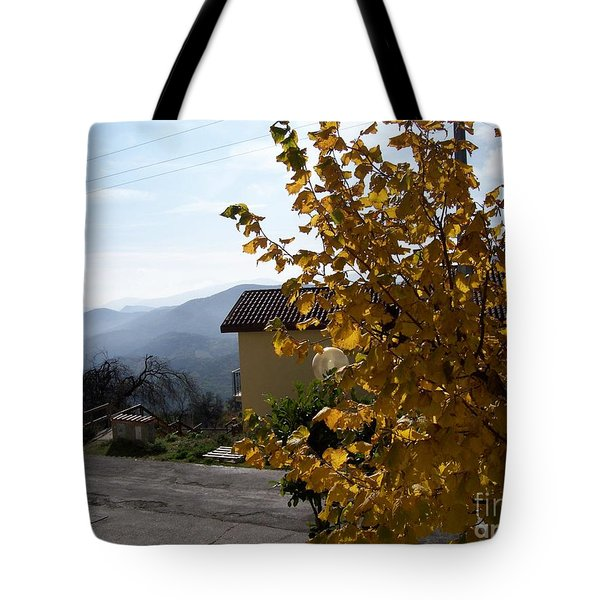 Tote Bag featuring the photograph Autumn Leaves by Judy Kirouac