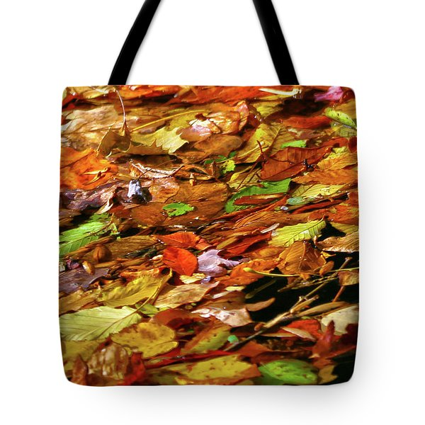 Tote Bag featuring the photograph Autumn Leaves by Mitch Cat