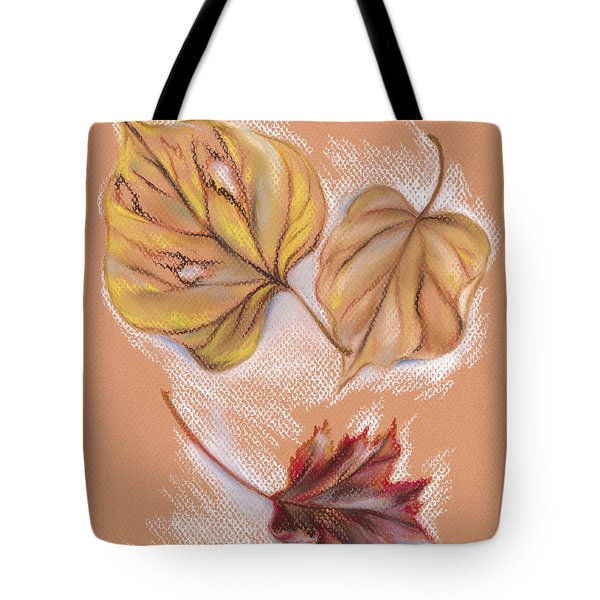 Autumn Leaves Of The Redbud And Maple Pastel By Mm Anderson