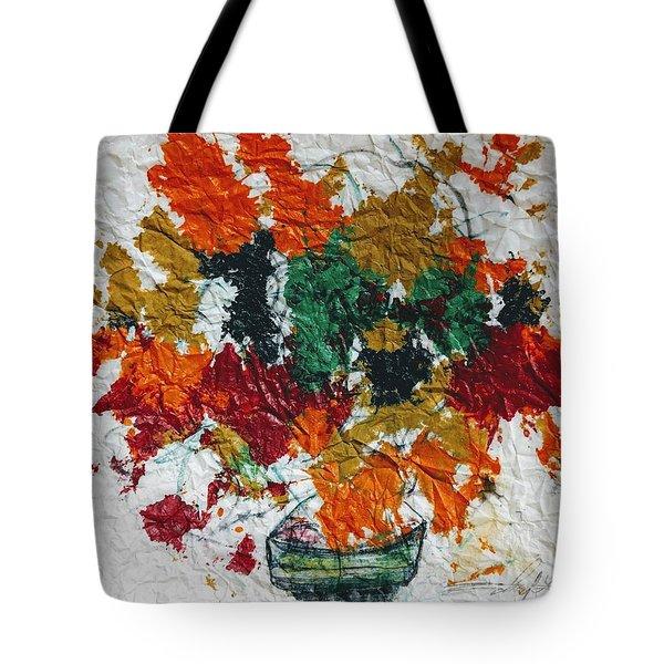 Autumn Leaves Plant Tote Bag