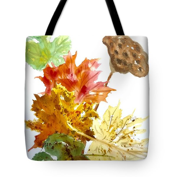 Autumn Leaves Still Life Tote Bag by Ellen Levinson