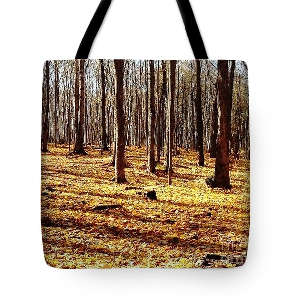 Tote Bag featuring the photograph Autumn Leaves by Vicky Tarcau