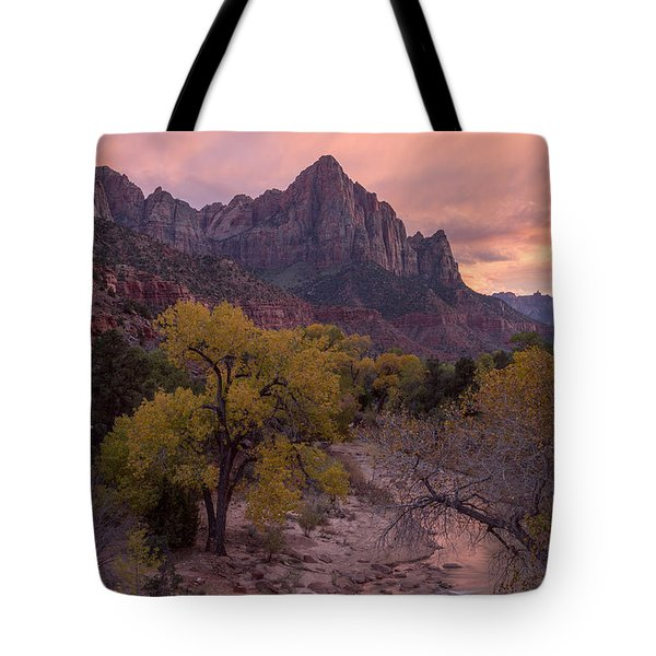 Tote Bag featuring the photograph Autumn Light Over The Watchman by Patricia Davidson
