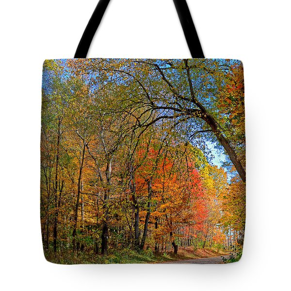 Tote Bag featuring the photograph Autumn Light by Rodney Campbell