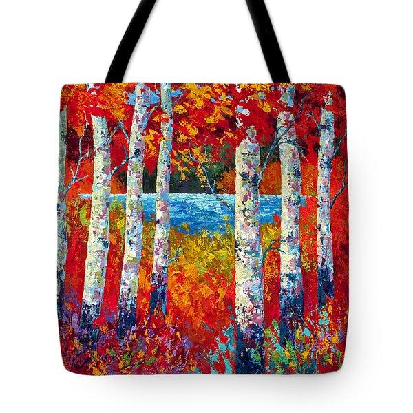 Autumn Lyrics Tote Bag