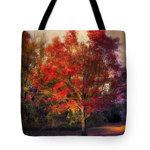 Autumn Maple Tote Bag by Jessica Jenney