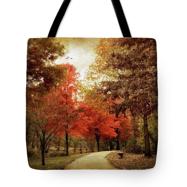 Autumn Maples Tote Bag by Jessica Jenney