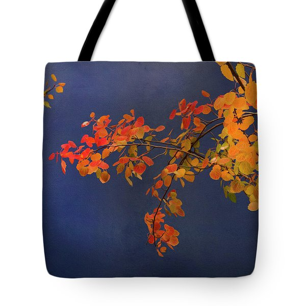Tote Bag featuring the photograph Autumn Matinee by Theresa Tahara