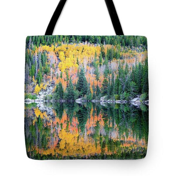 Autumn Mirror At Bear Lake Tote Bag