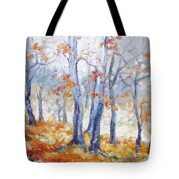 Autumn Mist - Morning Tote Bag