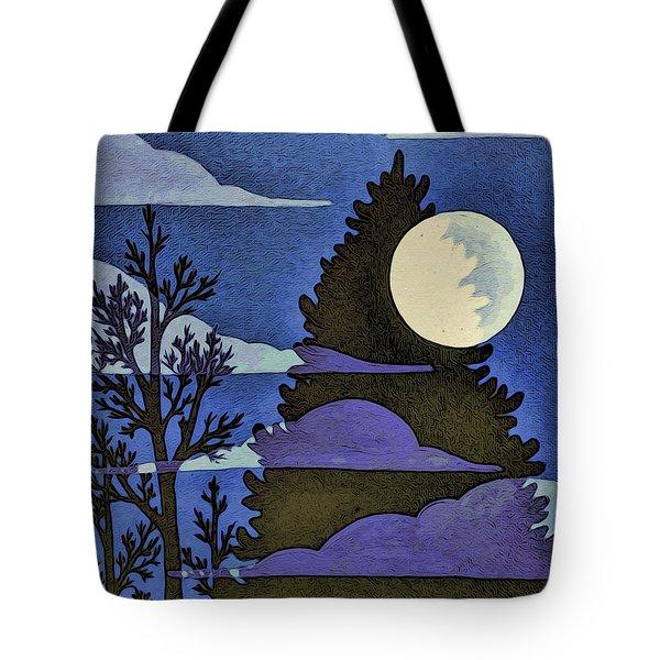 Autumn Moon Tote Bag