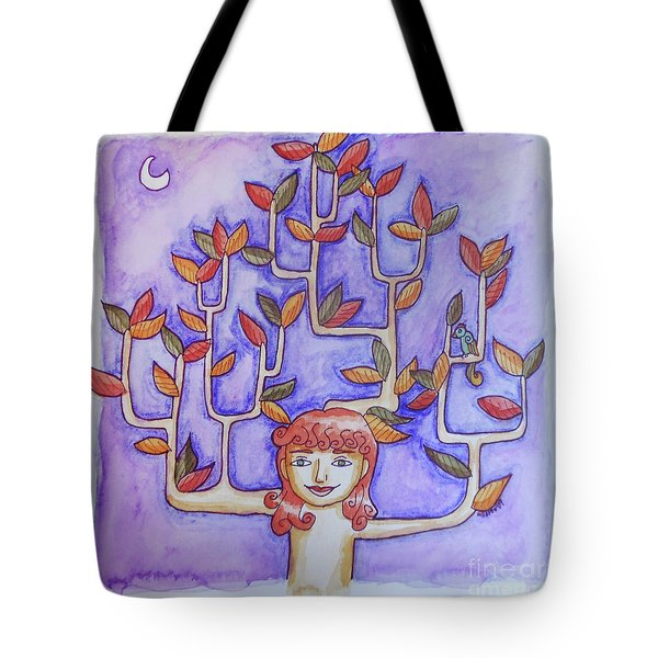Autumn Moon Tote Bag