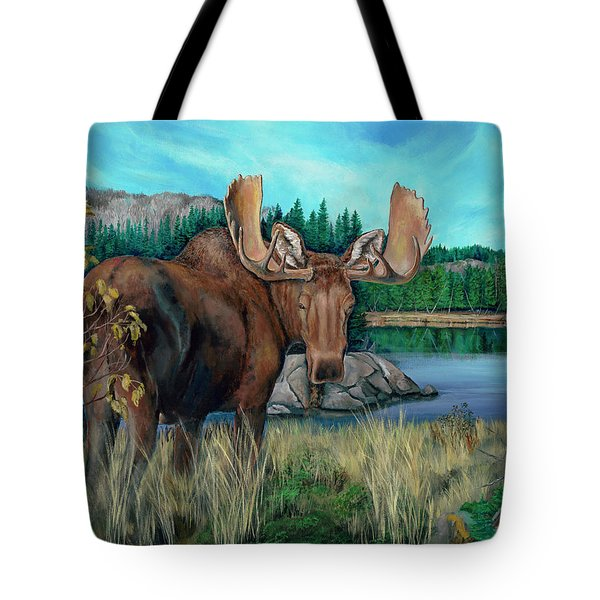Autumn Moose Tote Bag