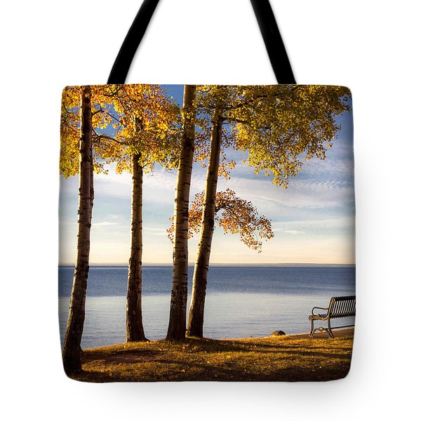 Autumn Morn On The Lake Tote Bag