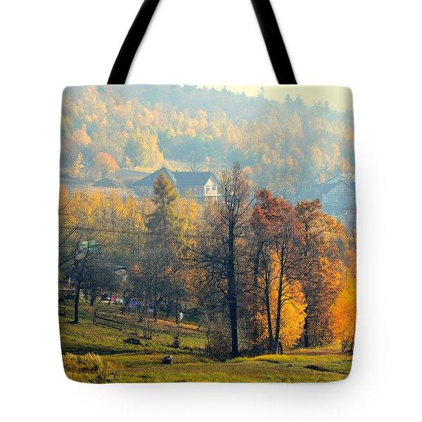 Autumn Morning Tote Bag by Henryk Gorecki