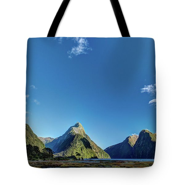 Tote Bag featuring the photograph Autumn Morning Milford Sound by Gary Eason