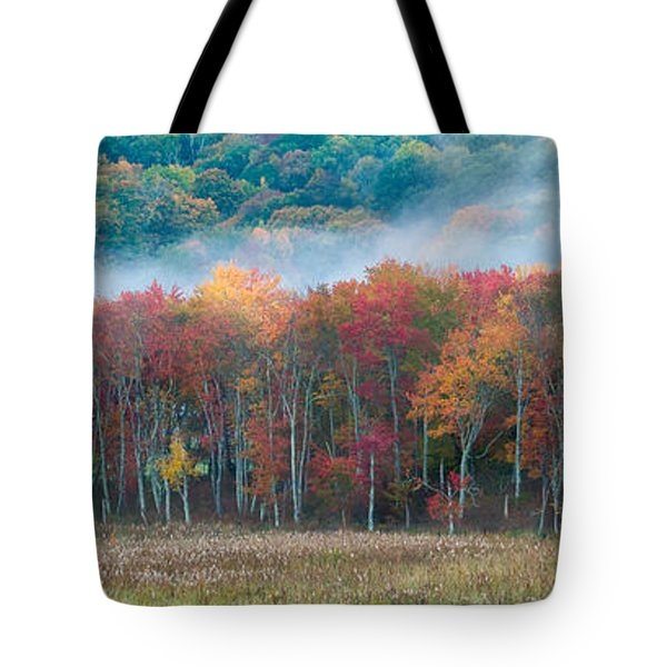 Autumn Morning Mist Tote Bag