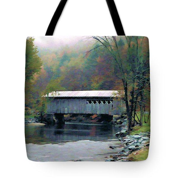 Autumn Morning Mist Tote Bag by Dan Dooley