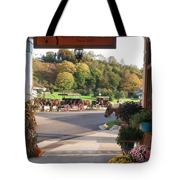 Autumn Morning On Mackinac Island Tote Bag